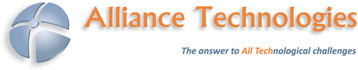 [company logo: Alliance Technologies; The answer to ALL TECHnological challenges]